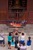 Chinese Buddhism prayers — Stock Photo