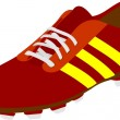 Football boots - Stockvectorbeeld