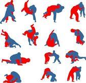 自由式摔跤 — 图库矢量图片