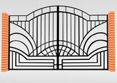 железный забор — Cтоковый вектор