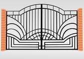 Iron fence — Vettoriale Stock