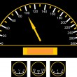 Speedometer on the car — Image vectorielle