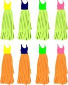 Vrouwelijke jurk — Stockvector