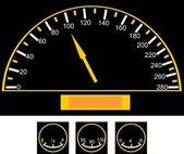 Snelheidsmeter op de auto — Stockvector