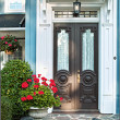 Front door of house — Stock Photo
