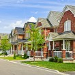 Suburban homes - Stock Photo