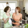 Women doing dishes in kitchen — Stock Photo #11552027