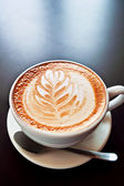 Coffee with foam art — Stock Photo
