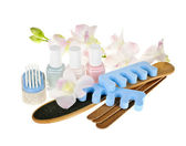 Pedicure accessories and tools — Stock Photo