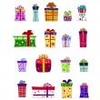 Fancy gift box set - vector — Stock Vector