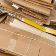 Stock Photo: Old paperboard waiting for recycling.