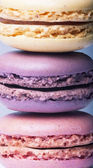 Close-up of colorful french macaroons, close-up — Stock Photo