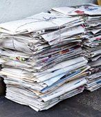 Trash of old newspaper for recycling, — Stock Photo