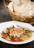 Chicken sour soup — Stock Photo