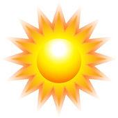 Burning sun — Stock Vector