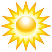 The sun illustration — Stock Vector