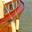 Side view of a wooden vintage boat in the harbor — Stockfoto