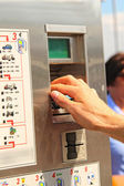 Ticket vending machine, commonly used for public transport — Stock Photo
