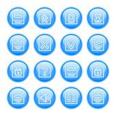 Flight status icon set — Stock Vector