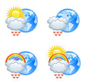 Love weather icons — Stock Vector