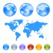 Royalty-Free Stock Imagen vectorial: Earth globes creation kit