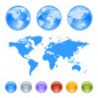 Earth globes creation kit — Stock Vector