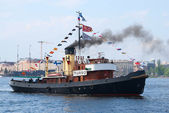 Turso vintage steamboat — Stock Photo