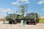 喀斯特类型移动雷达站 — 图库照片