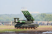 Buk-M mobile anti-air missile launcher — Stock Photo