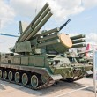 Pantsir-S1 anti-aircraft weapon system - Stock Photo