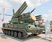 Pantsir-S1 anti-aircraft weapon system — Stock Photo