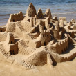 Sand castle on the beach  — ストック写真