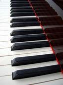 Piyano Klavye arka plan — Stok fotoğraf