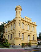 Historic court house and jail in the city of ilhabela in brazil — Stock Photo