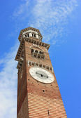 Lamberti Tower in Piazza Signori in Verona , Italy — Stock Photo