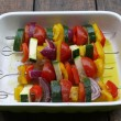 Grilled vegetables skewers — Stok fotoğraf