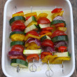 Royalty-Free Stock Photo: Grilled vegetables skewers