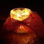 Friendly feelings candlelight — Stock Photo