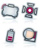 Photography Icons Set — Stock Photo