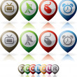 Misc Internet Icons — Foto de stock #10880737