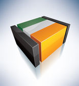 3D flag of Ireland — Stock Photo