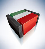 3D flag of Italy — Stock Photo
