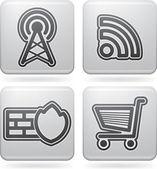 Iconos de internet — Foto de Stock