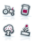 Farm Icons — Stock Photo