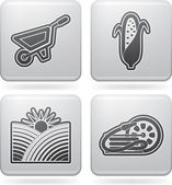 Industry Icons: Agriculture — Stock Photo