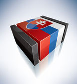 3D flag of Slovakia — Stock Photo