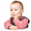 Portrait of a cute and pensive little boy — Stock Photo #10818676