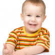 Portrait of a cute cheerful little boy — Stock Photo #10818695