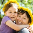 Portrait of happy daughter with her mother — Stock Photo #11533483