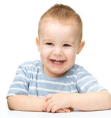 Portrait of a cute cheerful little boy — Foto de Stock
